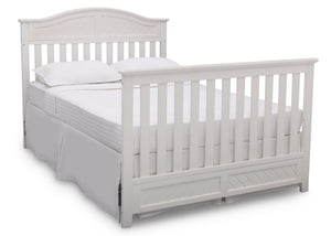Delta Children Bianca (130) Bennington Elite Curved 4-in-1 Crib angled conversion to full size bed a6a