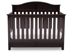 Delta Children Dark Espresso (958) Bennington Elite Curved 4-in-1 Crib Front View b2b