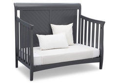 Delta Children Charcoal Grey (029) Bennington Elite Sleigh 4-in-1 Convertible Crib (550650), Day Bed, a5a
