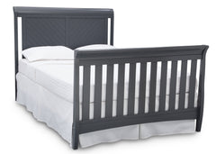 Delta Children Charcoal Grey (029) Bennington Elite Sleigh 4-in-1 Convertible Crib (550650), Full Size Bed, a6a