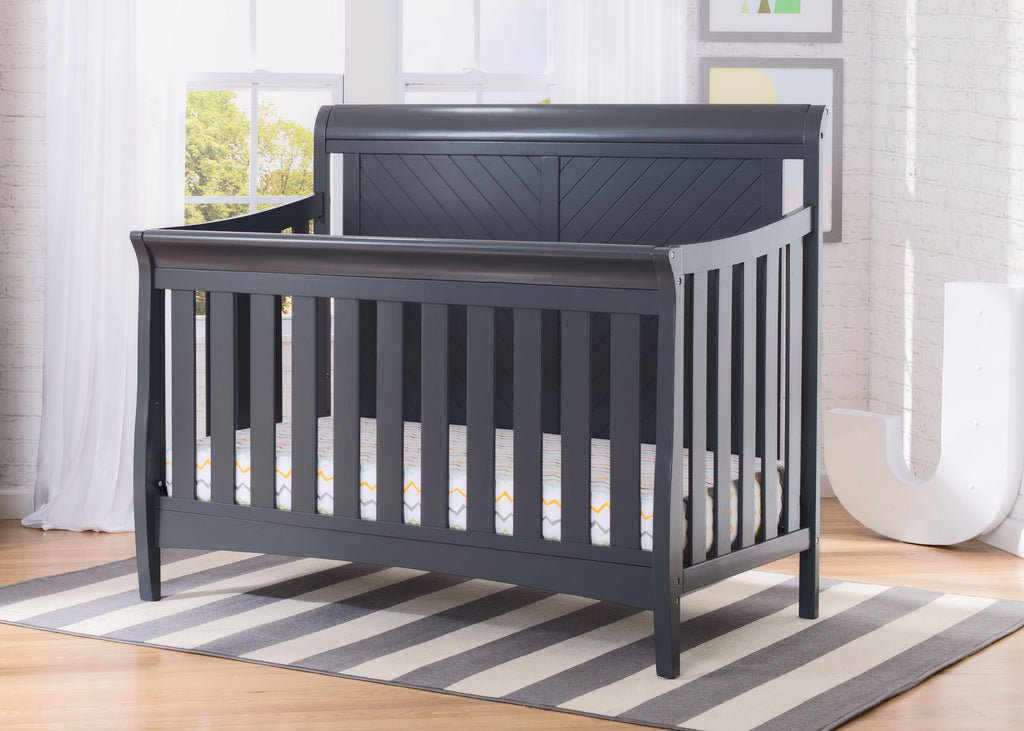 Bennington Elite Sleigh 4-in-1 Convertible Crib