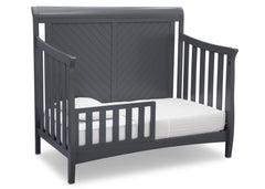 Delta Children Charcoal Grey (029) Bennington Elite Sleigh 4-in-1 Convertible Crib (550650), Toddler Bed, a4a