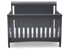 Delta Children Charcoal Grey (029) Bennington Elite Sleigh 4-in-1 Convertible Crib (550650), Straight, a2a