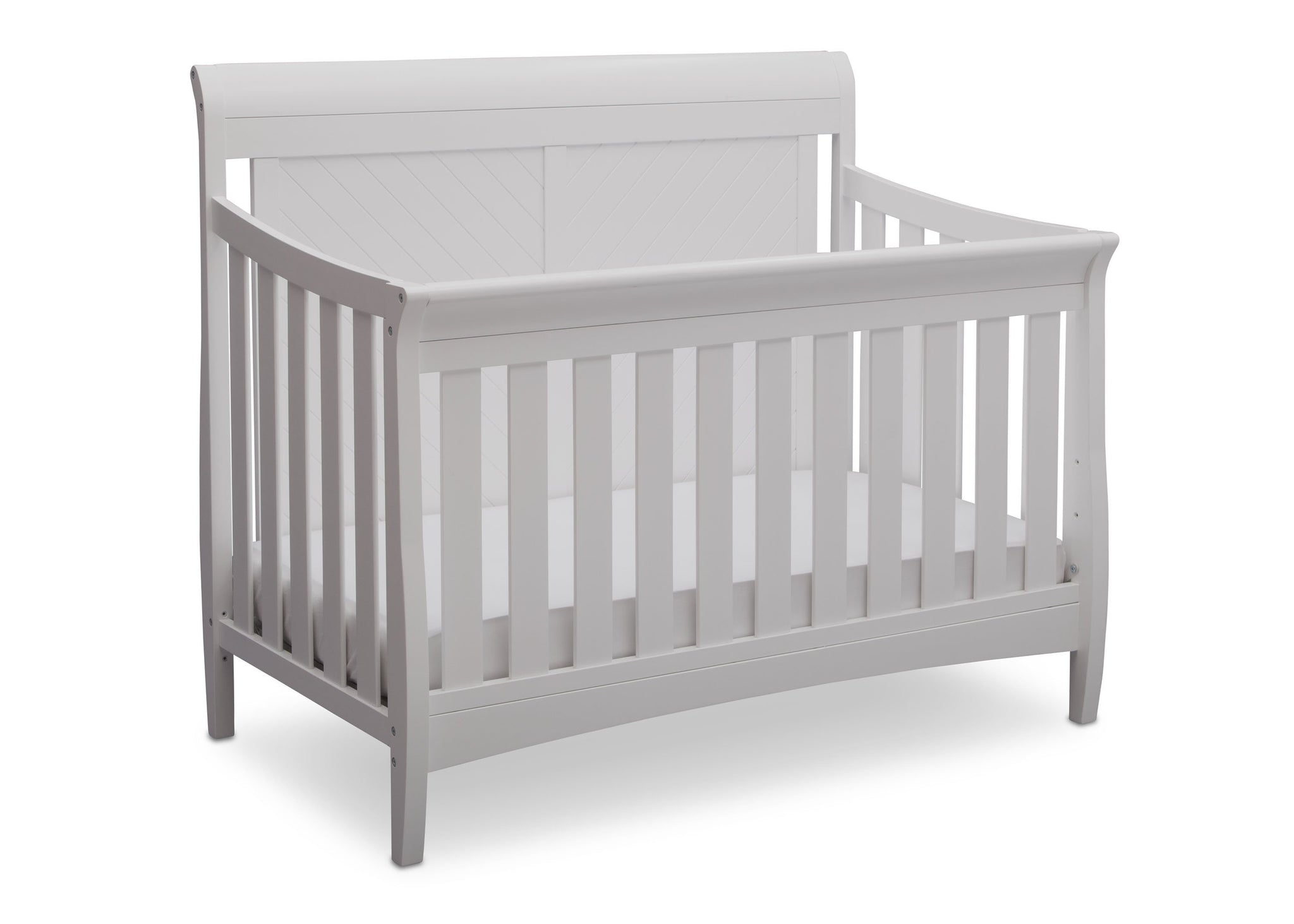Delta Children Bianca (130) Bennington Elite Sleigh 4-in-1 Convertible Crib (550650), Right Angle, b3b