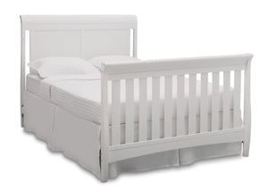 Delta Children Bianca (130) Bennington Elite Sleigh 4-in-1 Convertible Crib (550650), Full Size Bed, b6b