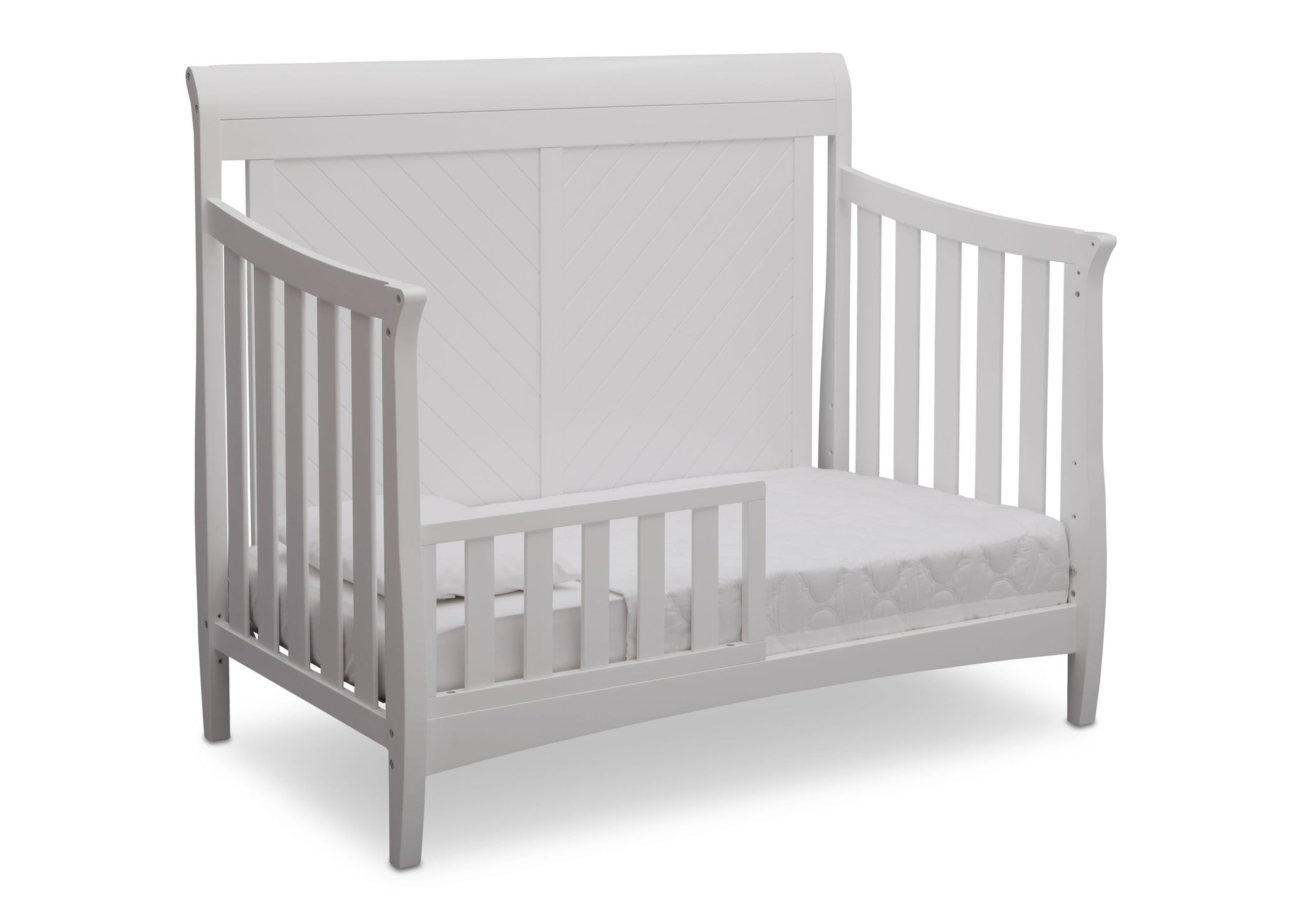Delta Children Bianca (130) Bennington Elite Sleigh 4-in-1 Convertible Crib (550650), Toddler Bed, b4b