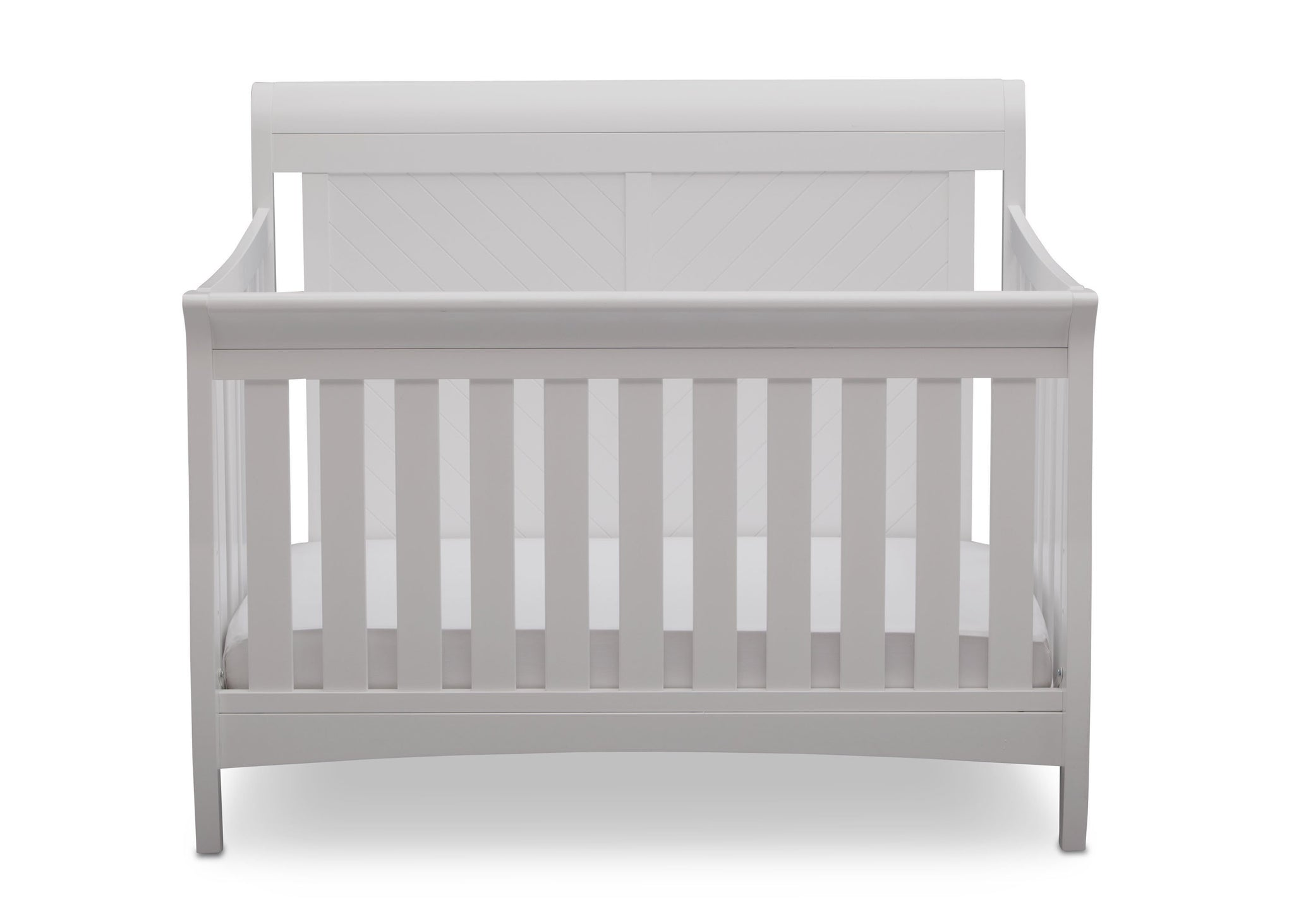 Delta Children Bianca (130) Bennington Elite Sleigh 4-in-1 Convertible Crib (550650), Straight, b2b