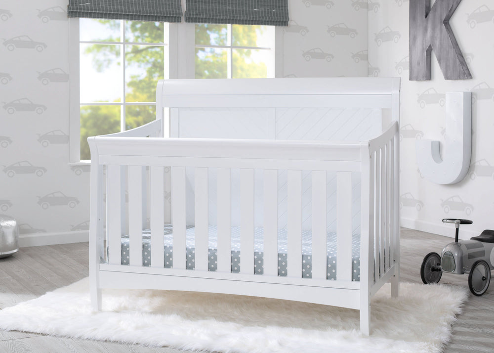 Bennington Elite Sleigh 4 In 1 Convertible Crib Delta Children