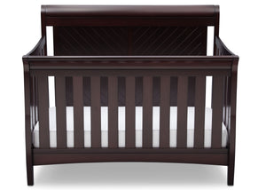 Delta Children Dark Espresso (958) Bennington Elite Sleigh 4-in-1 Convertible Crib (550650), Straight, c2c