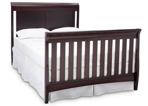 Delta Children Dark Espresso (958) Bennington Elite Sleigh 4-in-1 Convertible Crib (550650), Full Size Bed, c6c