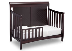 Delta Children Dark Espresso (958) Bennington Elite Sleigh 4-in-1 Convertible Crib (550650), Toddler Bed, c4c