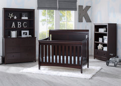 Delta Children Dark Espresso (958) Bennington Elite Sleigh 4-in-1 Convertible Crib (550650), Room, c1c