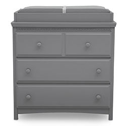 Emerson 3 Drawer Dresser with Changing Top (Grey)