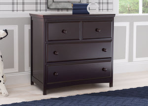 Delta Children Dark Chocolate (207) Emerson 3 Drawer Dresser with Changing Top, Hangtag c1c