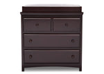 Emerson 3 Drawer Dresser with Changing Top (Dark Chocolate)