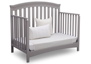 Delta Children Grey (026) Emerson 4-in-1 Crib, Angled Daybed a6a
