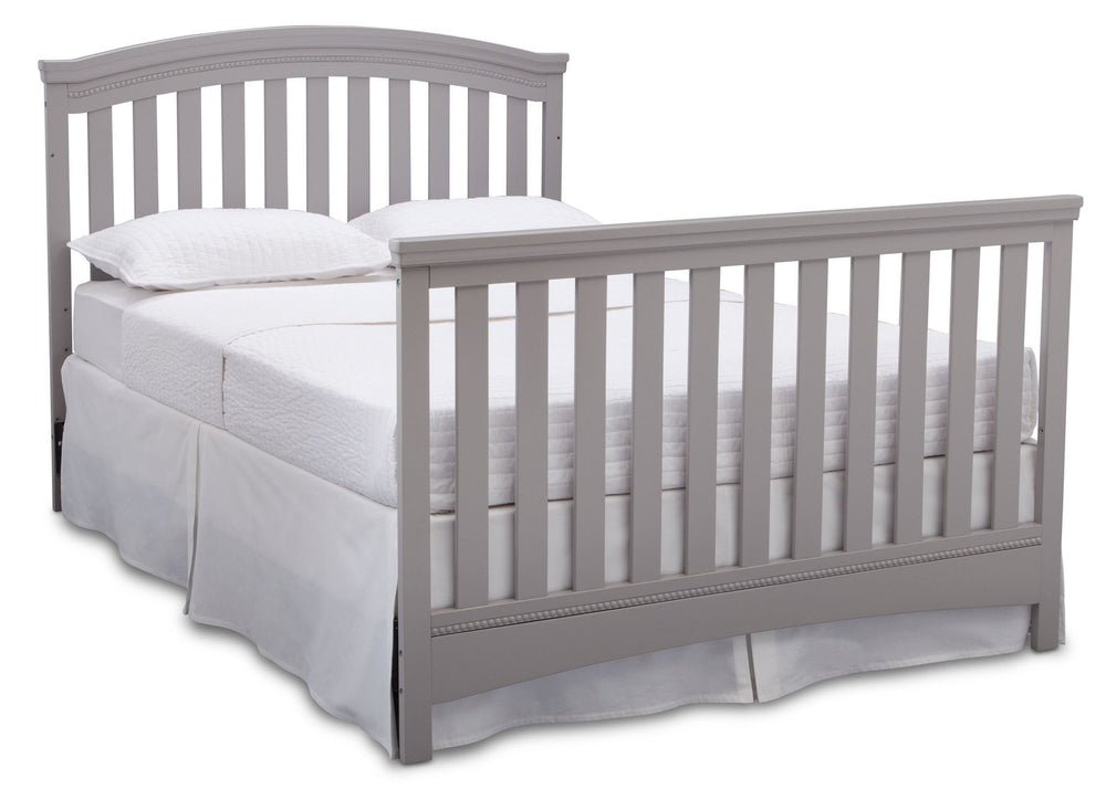 Delta Children Grey (026) Emerson 4-in-1 Crib, Full Size Bed a7a