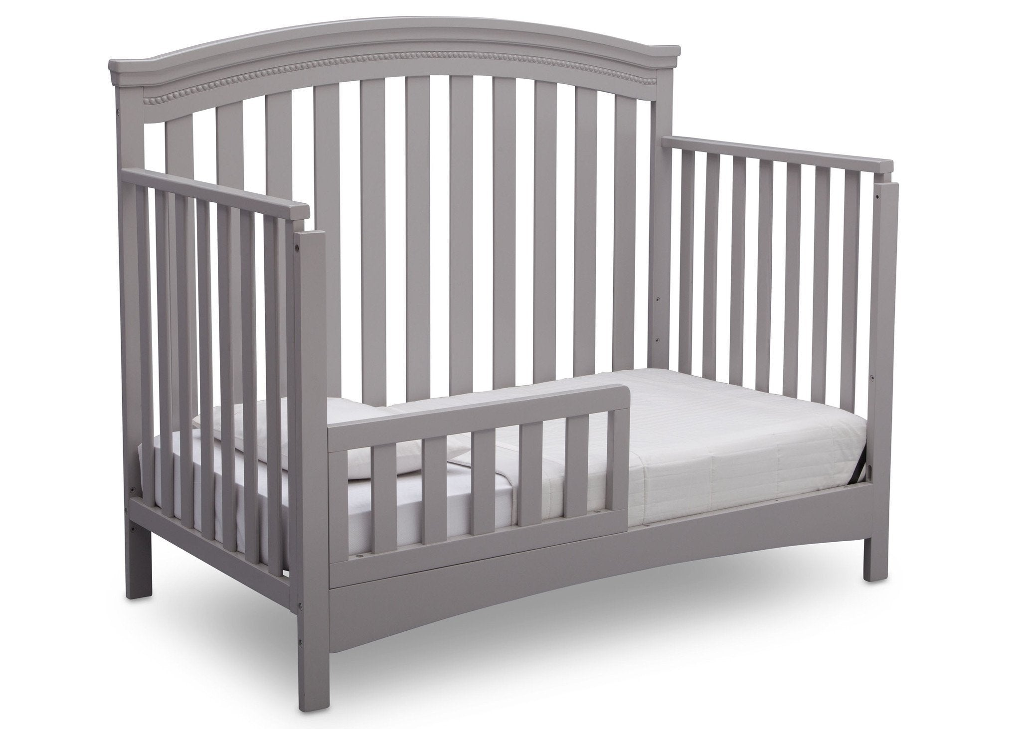 Delta Children Grey (026) Emerson 4-in-1 Crib, Angled Toddler Bed a5a