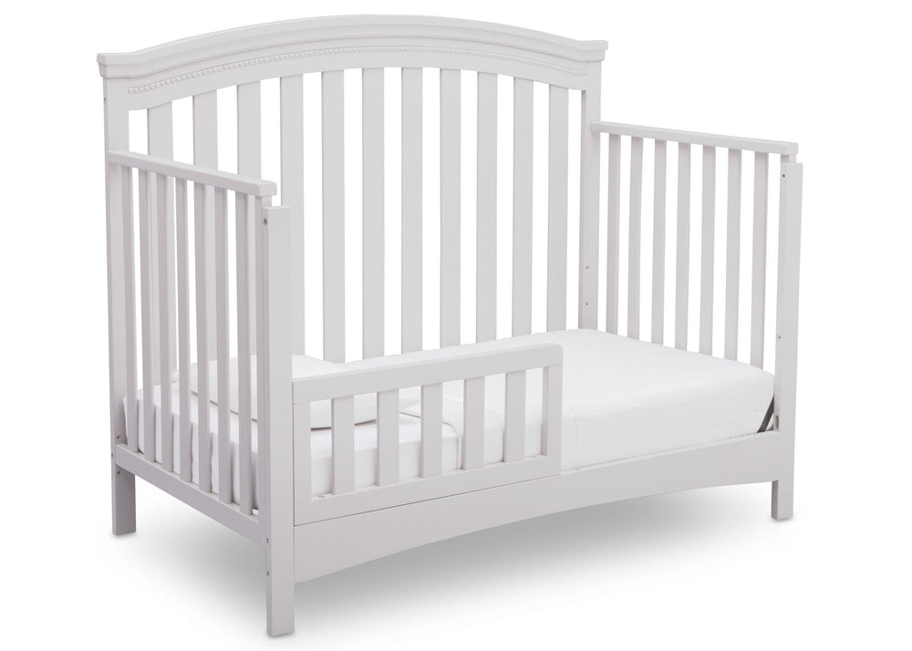 Delta Children Bianca (130) Emerson 4-in-1 Crib, Angled Toddler Bed a5a