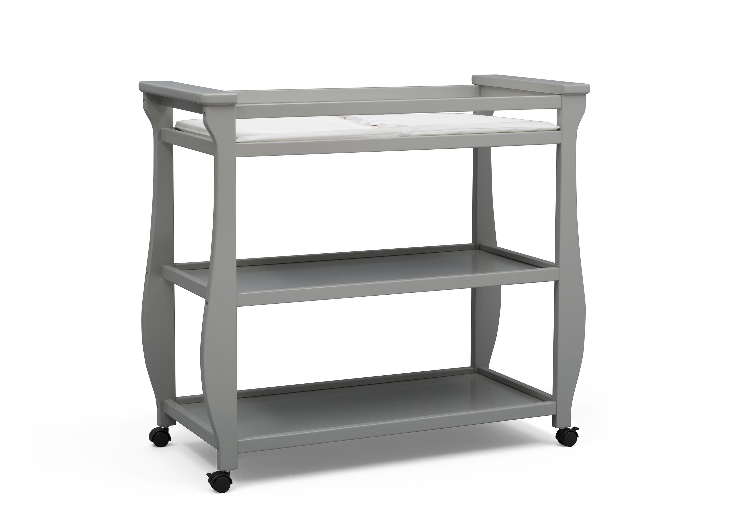 Superbe ... Delta Children Grey (026) Lancaster Changing Table (552010), Sideview,  A2a ...