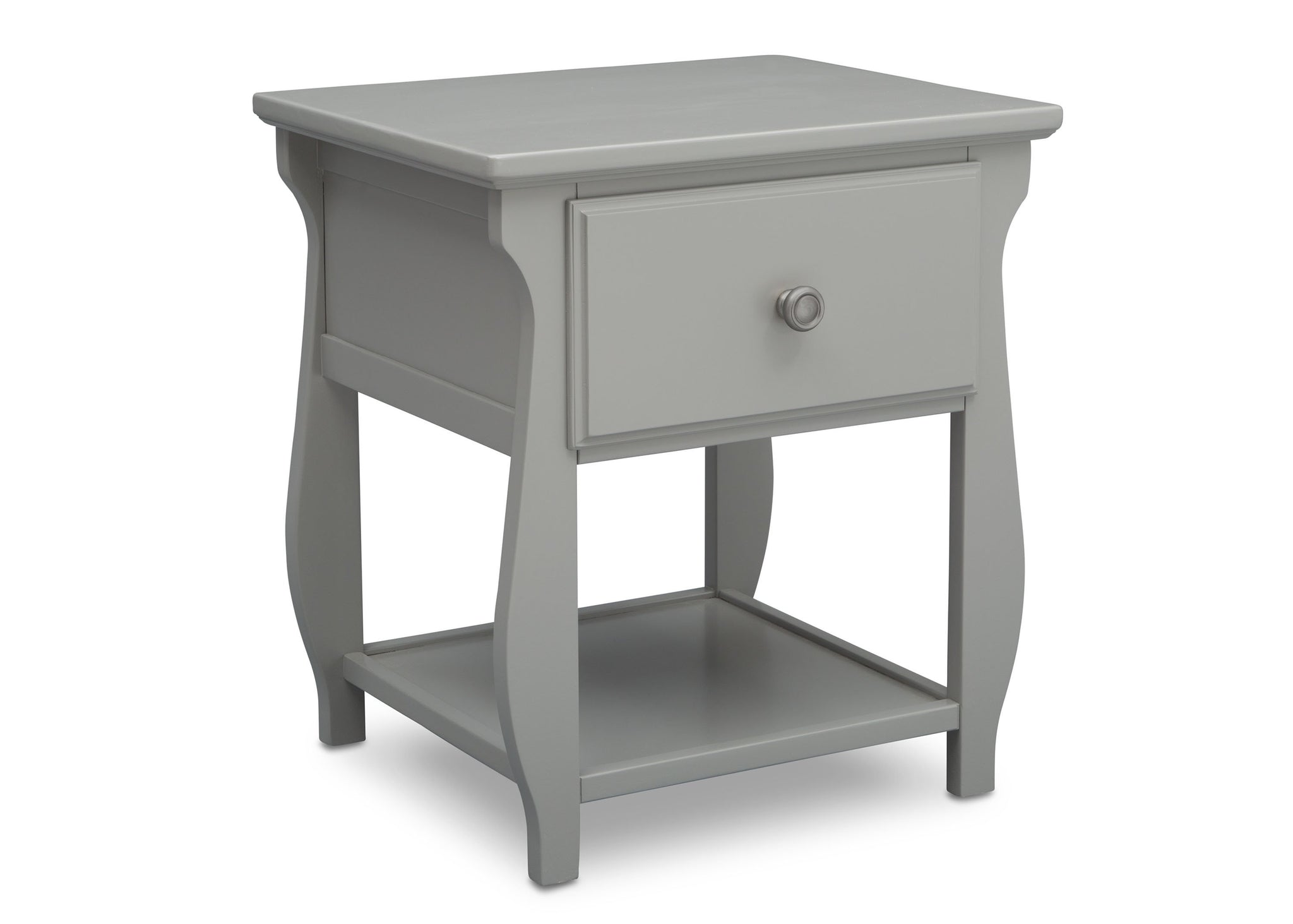 Delta Children Grey (026) Lancaster Nightstand (552020), Sideview, a3a