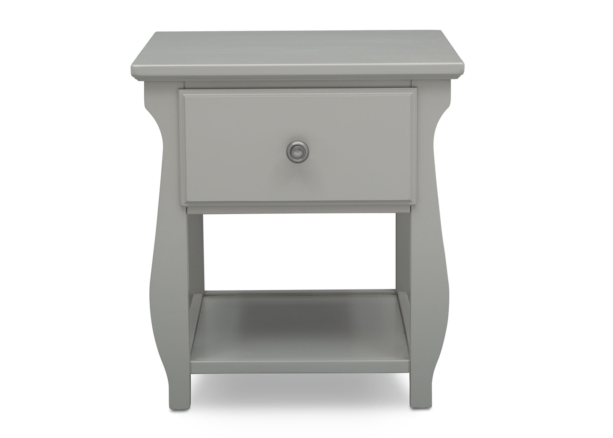 Delta Children Grey (026) Lancaster Nightstand (552020), Front View, a2a