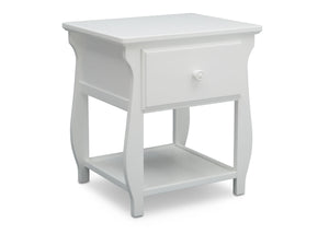 Delta Children Bianca White (130) Lancaster Nightstand (552020), Side View, b3b