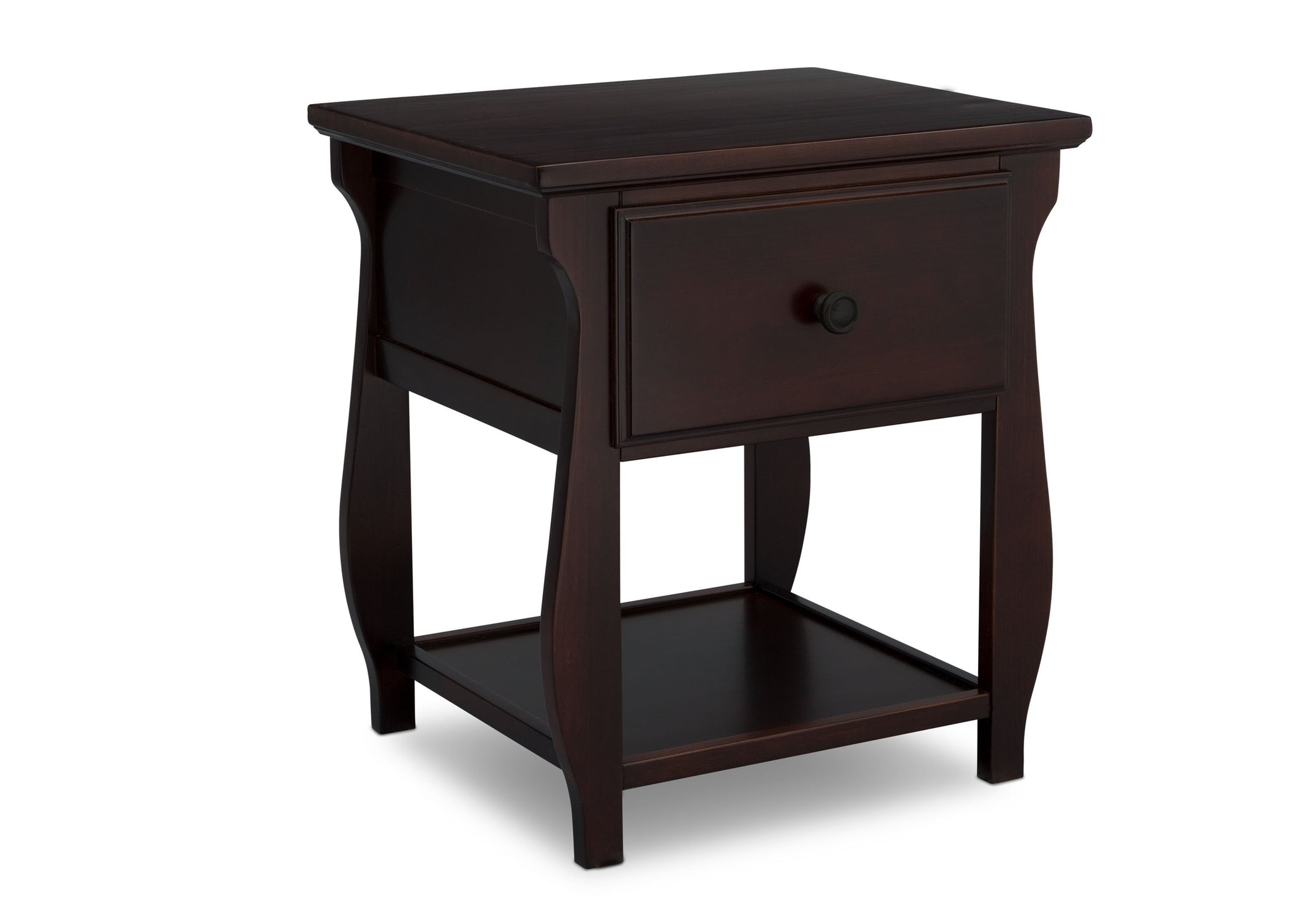 Delta Children Dark Chocolate (207) Lancaster Nightstand (552020), Side View, c3c