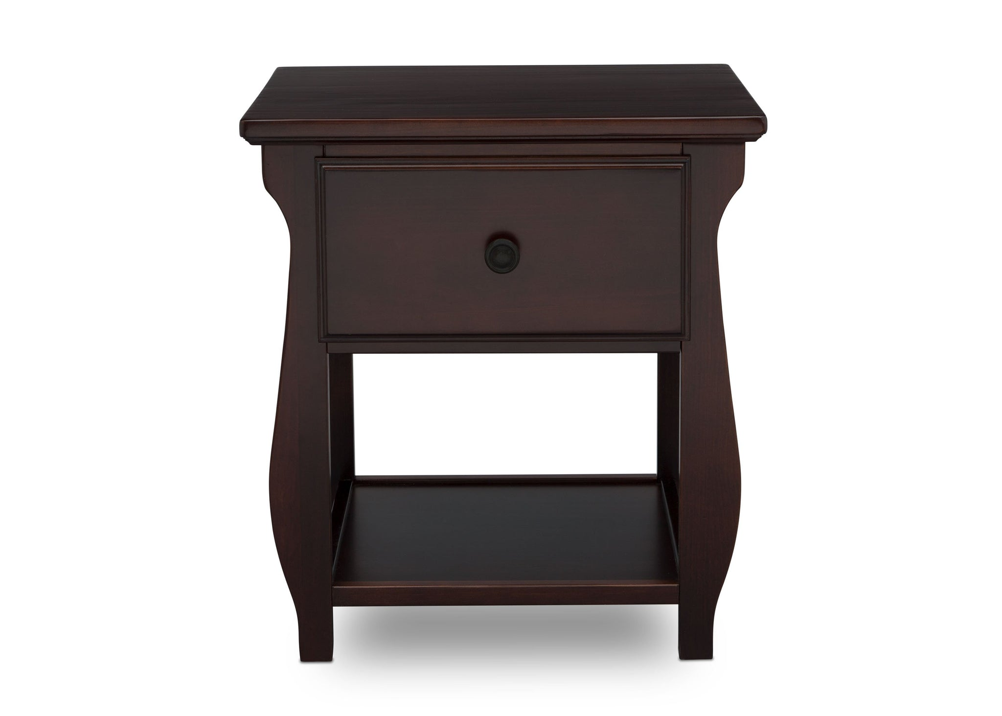 Delta Children Dark Chocolate (207) Lancaster Nightstand (552020), Front View, c2c