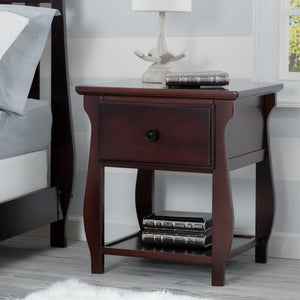 Delta Children Dark Chocolate (207) Lancaster Nightstand (552020), Hangtag, c1c