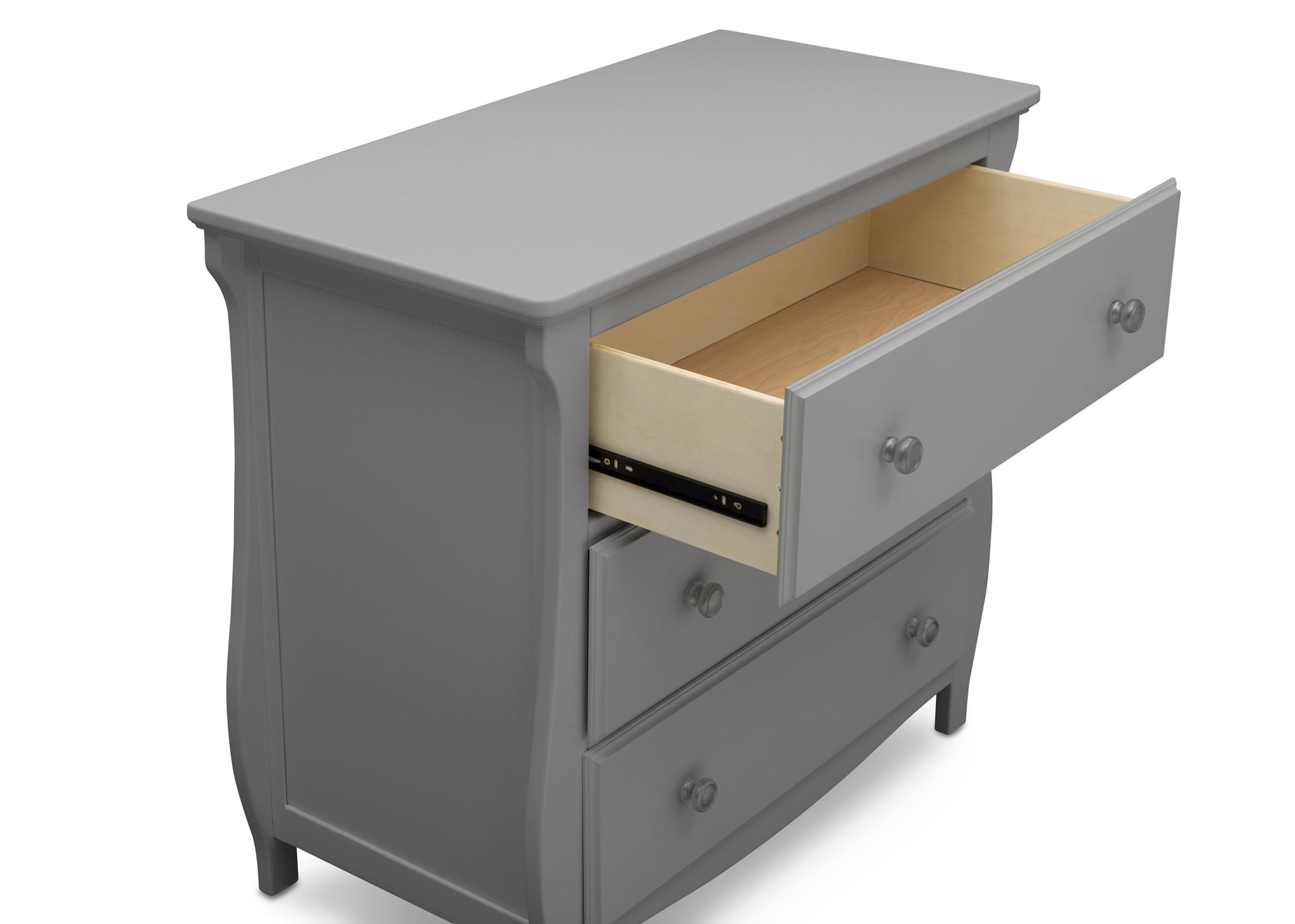 Delta Children Grey (026) Lancaster 3 Drawer Dresser with Changing Top (552030), Detail, a4a
