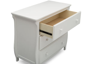 Delta Children Bianca White (130) Lancaster 3 Drawer Dresser with Changing Top (552030), Detail, b4b