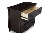 Lancaster 3 Drawer Dresser with Changing Top (Dark Chocolate)