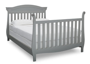 Delta Children Grey (026) Lancaster 4-in-1 Convertible Crib (552150), Full Bed with Footboard, a5a