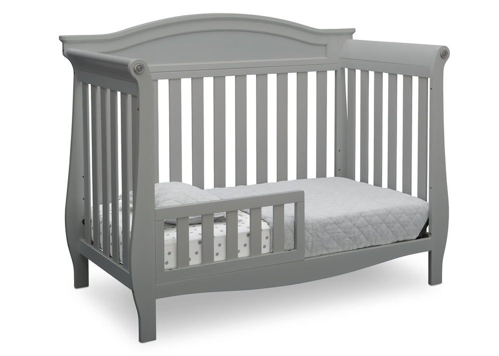 Delta Children Grey (026) Lancaster 4-in-1 Convertible Crib (552150), Toddler Bed, a3a