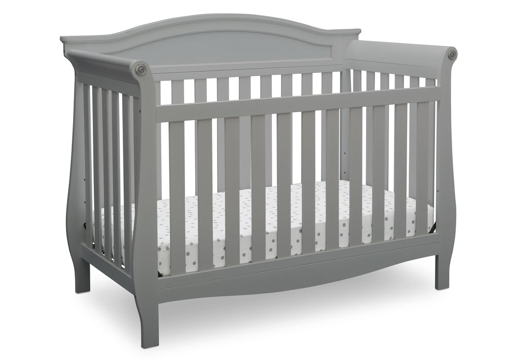 Delta Children Grey (026) Lancaster 4-in-1 Convertible Crib (552150), Crib, a2a
