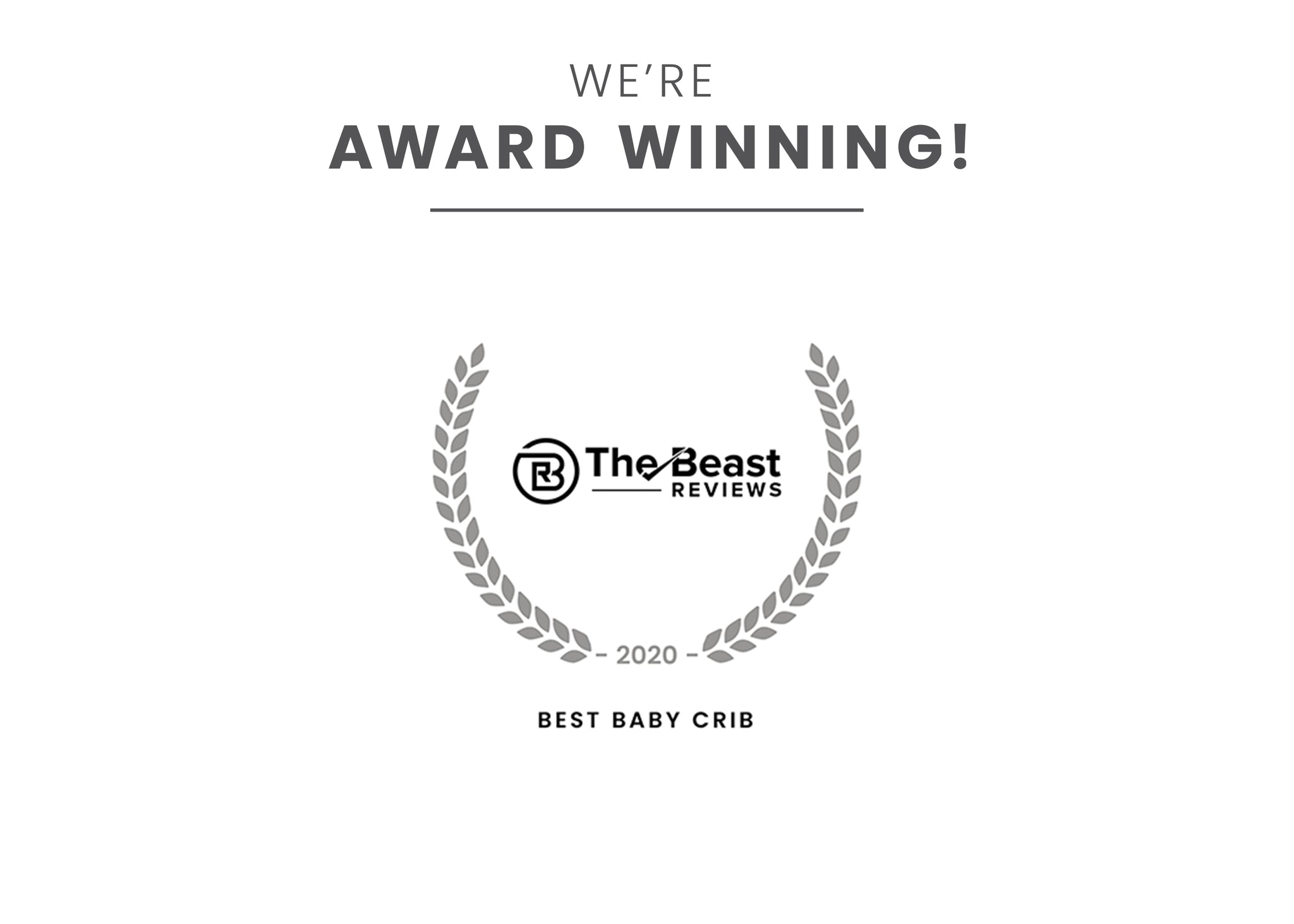 Award badge for Best baby Crib Grey (026)