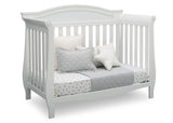 Delta Children Bianca White (130) Lancaster 4-in-1 Convertible Crib (552150), Daybed, b4b