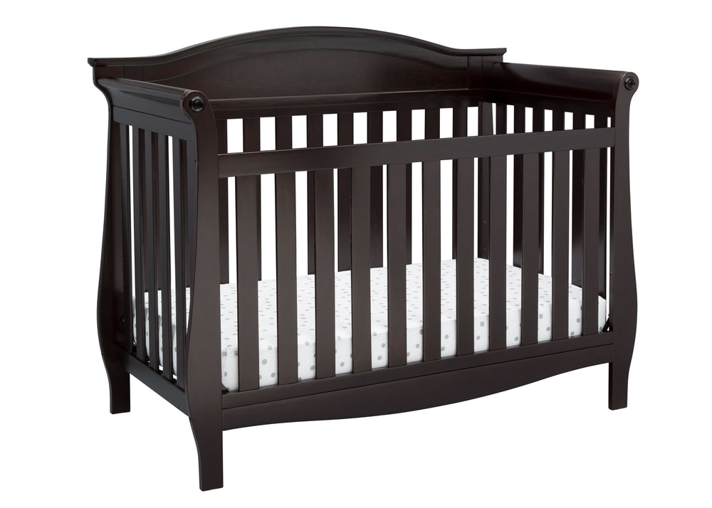 Delta Children Dark Chocolate (207) Lancaster 4-in-1 Convertible Crib (552150), Crib, c2c