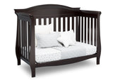 Delta Children Dark Chocolate (207) Lancaster 4-in-1 Convertible Crib (552150), Daybed, c4c