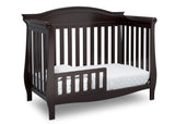 Delta Children Dark Chocolate (207) Lancaster 4-in-1 Convertible Crib (552150), Toddler Bed, c3c