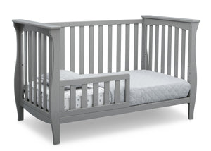 Delta Children Grey (026) Lancaster 3-in-1 Convertible Crib (552330), Toddler Bed, a5a