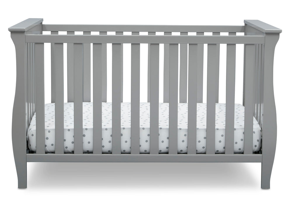 Delta Children Grey (026) Lancaster 3-in-1 Convertible Crib (552330), Front Side, a2a
