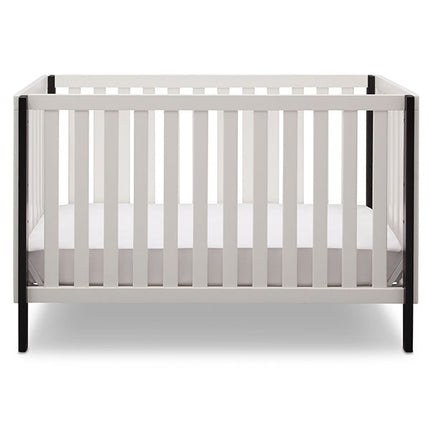 Delta Children Bianca with Black (117) Milo 3-in-1 Crib, Front View, c2c