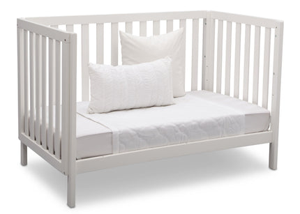 Delta Children Bianca (130) Milo 3-in-1 Crib, Angled Conversion to Daybed, b6b
