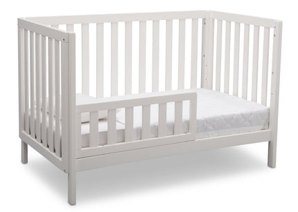 Delta Children Bianca (130) Milo 3-in-1 Crib, Angled Conversion to Toddler Bed, b5b