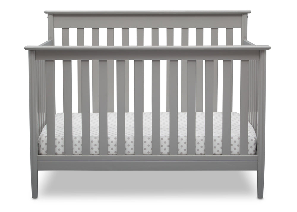 Delta Children Grey (026) Greyson Signature 4-in-1 Crib, front view, a2a