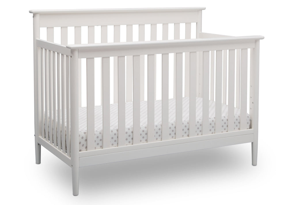 Delta Children Bianca (130) Greyson Signature 4-in-1 Crib, angled view, b3b