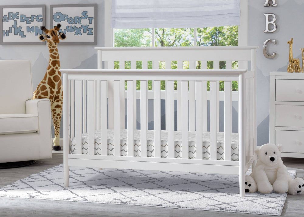 Delta Children Bianca (130) Greyson Signature 4-in-1 Crib, Room View b1b