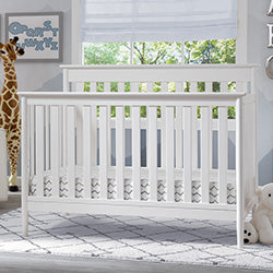 Greyson Signature 4-in-1 Convertible Crib (Bianca) - Bundle